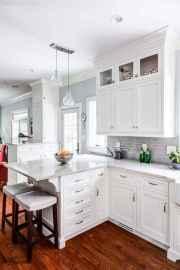 100 Supreme White Kitchen Cabinets Decor Ideas For Farmhouse Style Design (84)