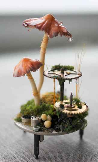 120 Easy And Simply To Try DIY Polymer Clay Fairy Garden Ideas (45)