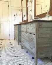 50 Stunning Farmhouse Bathroom Vanity Decor Ideas (10)