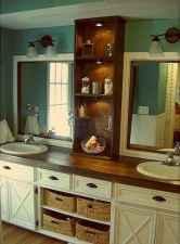 50 Stunning Farmhouse Bathroom Vanity Decor Ideas (100)