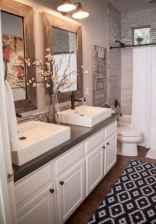 50 Stunning Farmhouse Bathroom Vanity Decor Ideas (102)