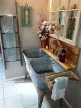 50 Stunning Farmhouse Bathroom Vanity Decor Ideas (106)