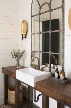 50 Stunning Farmhouse Bathroom Vanity Decor Ideas (116)