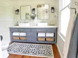 50 Stunning Farmhouse Bathroom Vanity Decor Ideas (28)