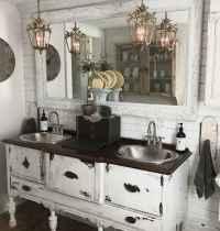 50 Stunning Farmhouse Bathroom Vanity Decor Ideas (49)