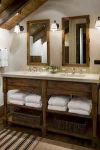 50 Stunning Farmhouse Bathroom Vanity Decor Ideas (51)