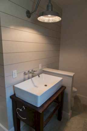 50 Stunning Farmhouse Bathroom Vanity Decor Ideas (58)