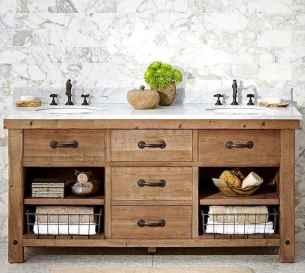 50 Stunning Farmhouse Bathroom Vanity Decor Ideas (64)