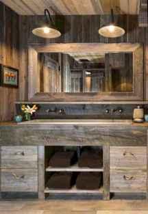 50 Stunning Farmhouse Bathroom Vanity Decor Ideas (70)