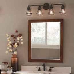 50 Stunning Farmhouse Bathroom Vanity Decor Ideas (85)