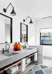50 Stunning Farmhouse Bathroom Vanity Decor Ideas (98)