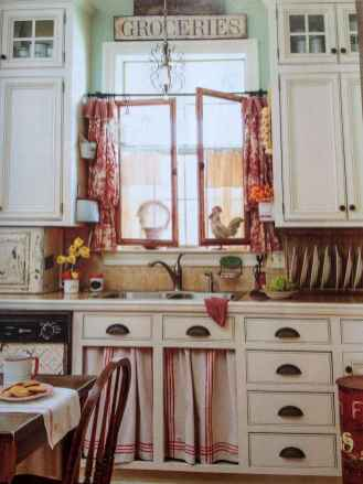 70 Best Farmhouse Kitchen Curtains Decor Ideas (64)
