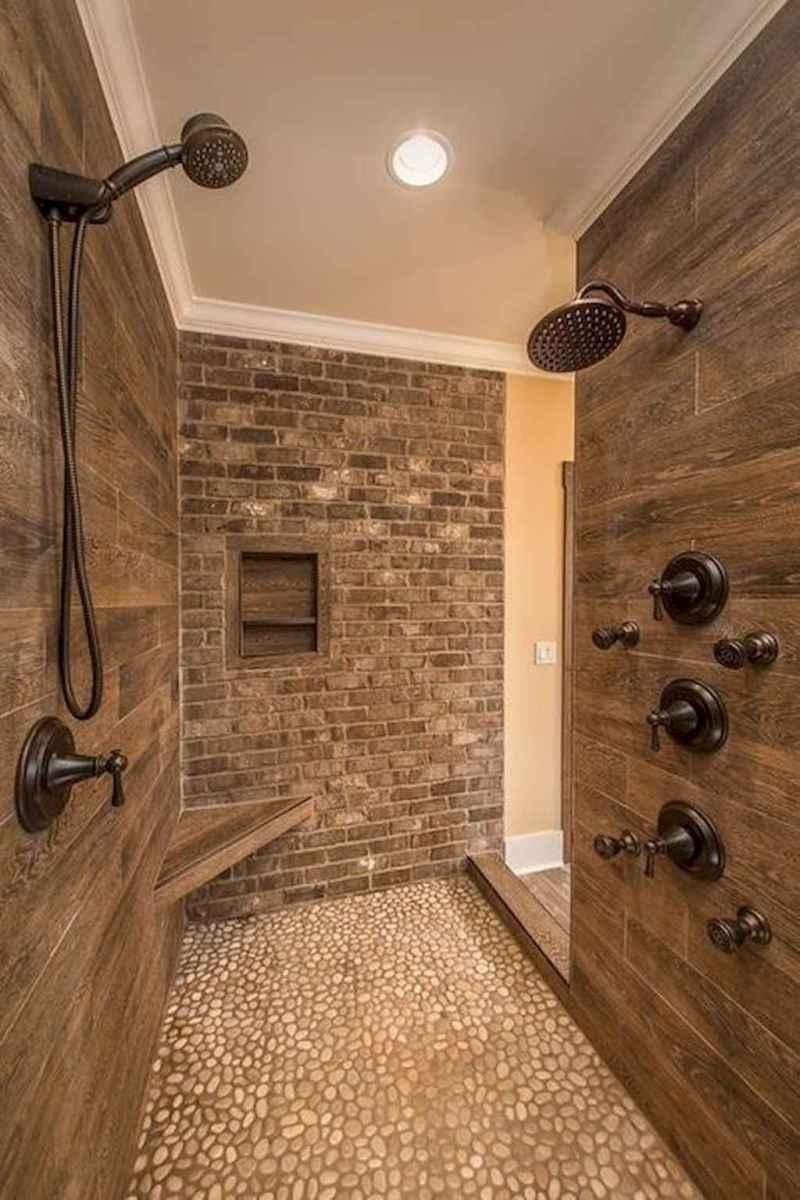 80 Best Farmhouse Tile Shower Ideas Remodel (113)
