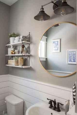90 Awesome Lamp For Farmhouse Bathroom Lighting Ideas (52)