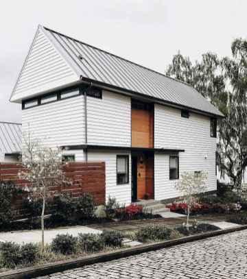 90 Awesome Modern Farmhouse Exterior Design Ideas (25)