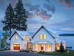 90 Awesome Modern Farmhouse Exterior Design Ideas (50)