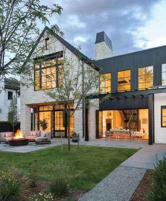 90 Awesome Modern Farmhouse Exterior Design Ideas (63)