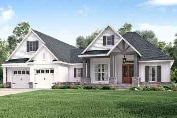 90 Awesome Modern Farmhouse Exterior Design Ideas (85)