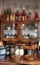 90 Best Farmhouse Kitchen Cabinet Design Ideas (108)