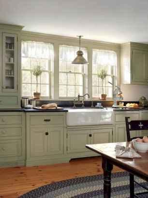 90 Best Farmhouse Kitchen Cabinet Design Ideas (164)