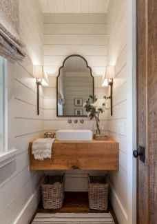 110 Fabulous Farmhouse Bathroom Decor Ideas (32)