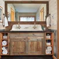 110 Fabulous Farmhouse Bathroom Decor Ideas (35)