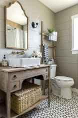 110 Fabulous Farmhouse Bathroom Decor Ideas (40)