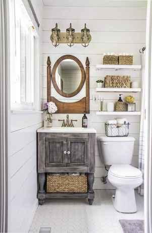 110 Fabulous Farmhouse Bathroom Decor Ideas (64)