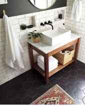 110 Fabulous Farmhouse Bathroom Decor Ideas (80)