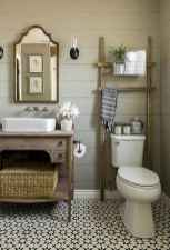 50 Amazing Farmhouse Bathroom Vanity Decor Ideas (101)