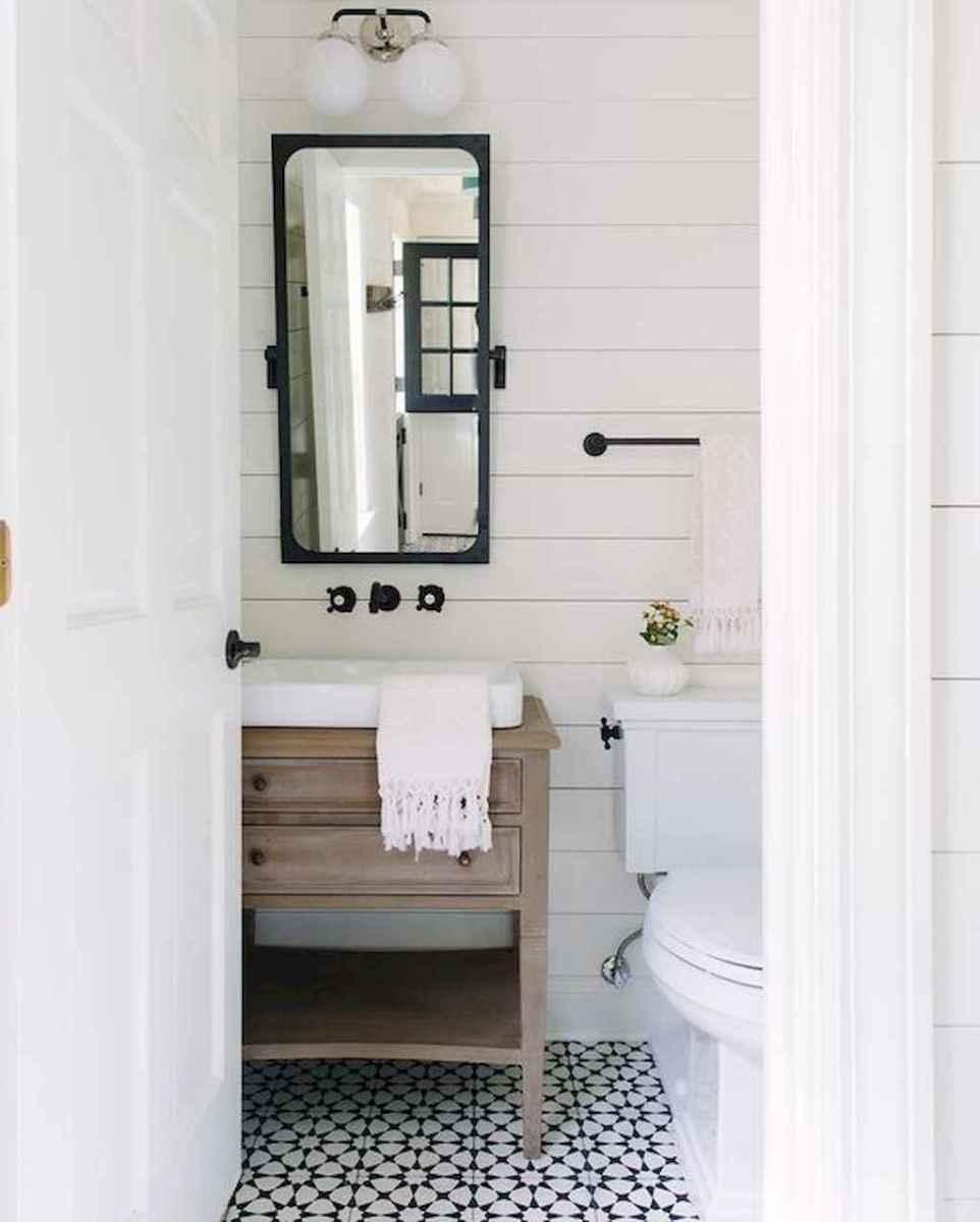 50 Amazing Farmhouse Bathroom Vanity Decor Ideas (113)
