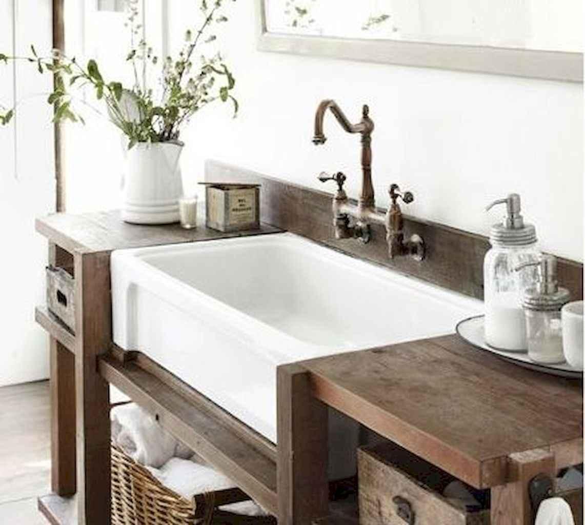 50 Amazing Farmhouse Bathroom Vanity Decor Ideas (122 ...
