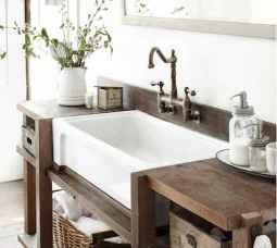 50 Amazing Farmhouse Bathroom Vanity Decor Ideas (122)