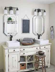 50 Amazing Farmhouse Bathroom Vanity Decor Ideas (13)