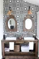50 Amazing Farmhouse Bathroom Vanity Decor Ideas (14)