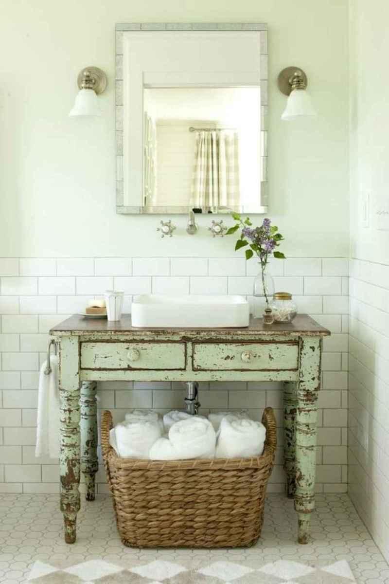 50 Amazing Farmhouse Bathroom Vanity Decor Ideas (24)