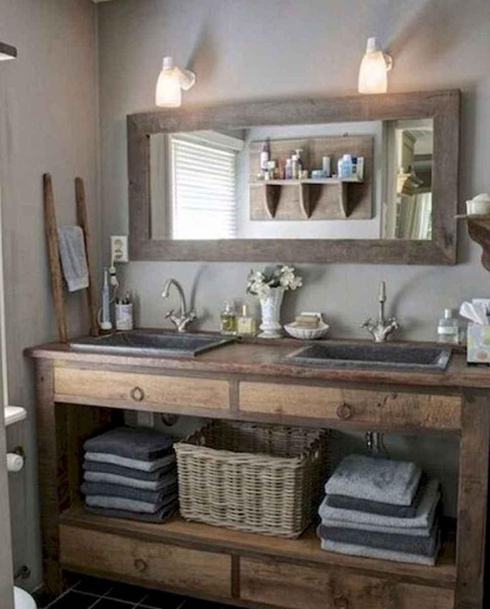 50 Amazing Farmhouse Bathroom Vanity Decor Ideas (56)
