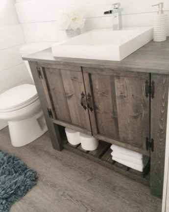 50 Amazing Farmhouse Bathroom Vanity Decor Ideas (57)