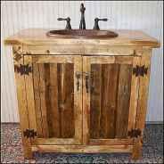 50 Amazing Farmhouse Bathroom Vanity Decor Ideas (61)
