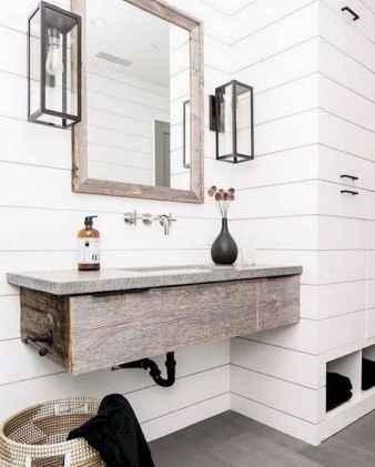 50 Amazing Farmhouse Bathroom Vanity Decor Ideas (77)
