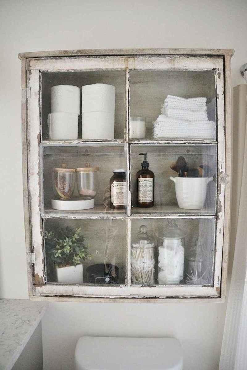 50 Amazing Farmhouse Bathroom Vanity Decor Ideas (80)