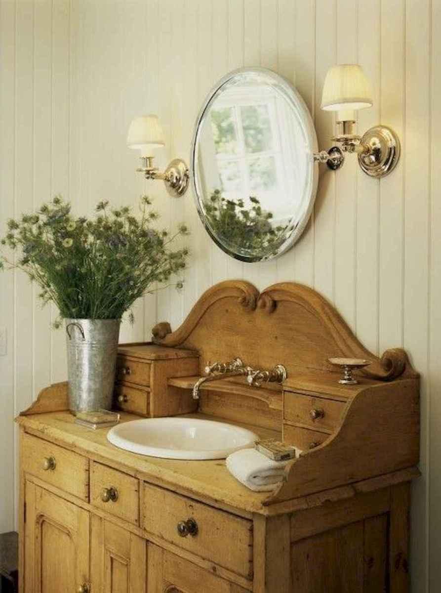 50 Amazing Farmhouse Bathroom Vanity Decor Ideas (84)