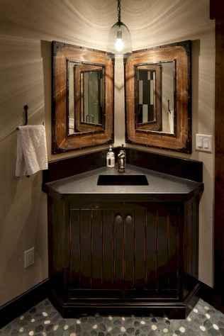 50 Amazing Farmhouse Bathroom Vanity Decor Ideas (90)
