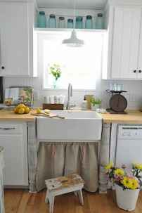 70 Pretty Farmhouse Kitchen Curtains Decor Ideas (20)