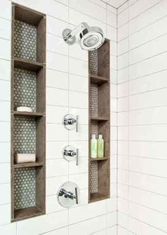 80 Cool Farmhouse Tile Shower Ideas Remodel (12)