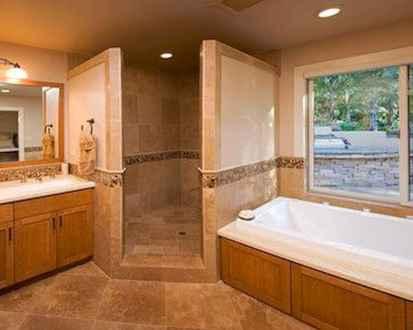 80 Cool Farmhouse Tile Shower Ideas Remodel (45)