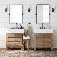 90 Awesome Lamp For Farmhouse Bathroom Lighting Ideas (1)
