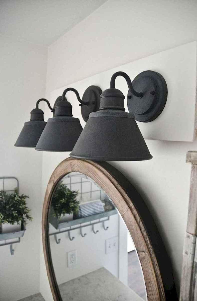 90 Awesome Lamp For Farmhouse Bathroom Lighting Ideas (80)