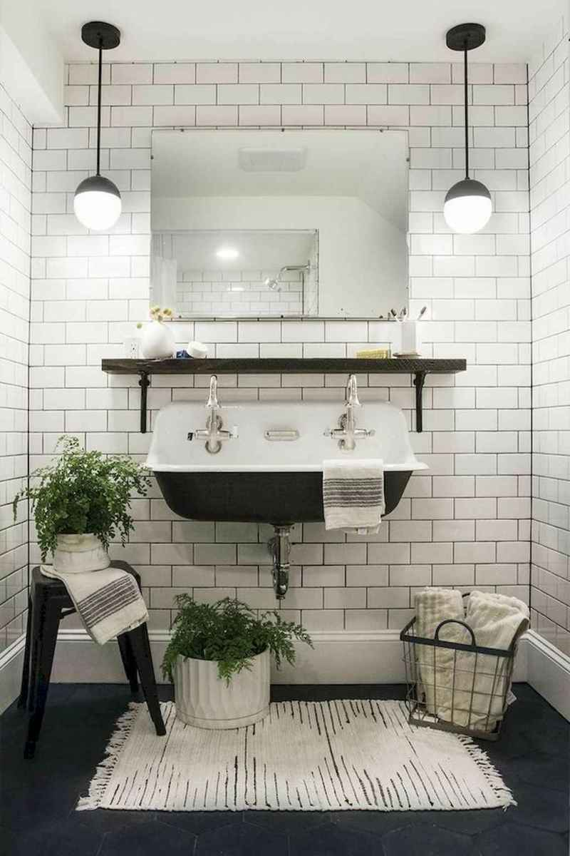 90 Awesome Lamp For Farmhouse Bathroom Lighting Ideas (84)