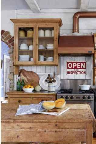 90 Best Farmhouse Kitchen Cabinet Design Ideas (86)